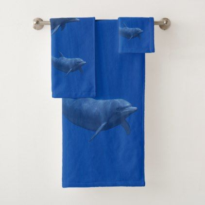 Dolphin Bathroom Towel Set