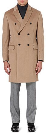 Façonnable Double-breasted wool coat on shopstyle.co.uk