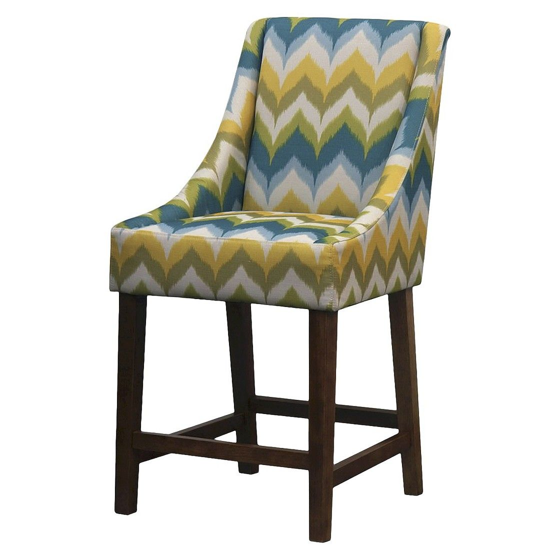 Mid century modern griffin counter stool zigzag home products