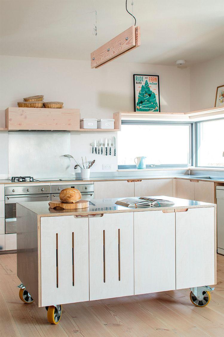 mobile kücheninsel auf rollen – ideen und platzsparende