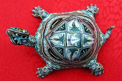 Turtle by Jon Anderson, Fimo Sculpture, World Famous Clay Polymer Artist | eBay