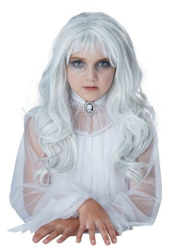 This Girls Ghost Wig will add to your spooky, ghostly appearance - halloween ghost costume ideas