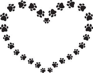dog paw print clip art black and white puppy dog clip art rh pinterest ca free clipart of dog paw prints dog paw print clip art border