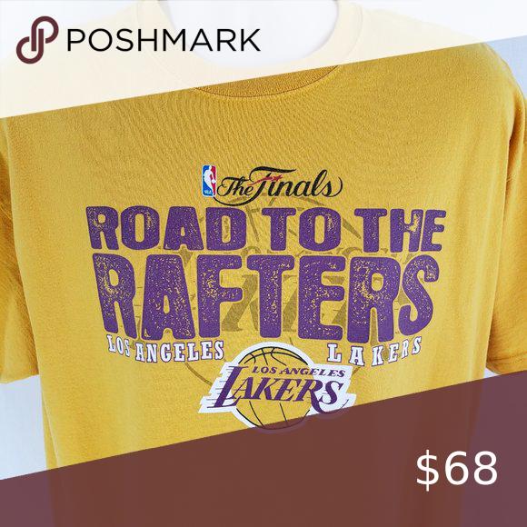 La Lakers Road To The Rafters T Shirt Nba Finals In 2020 La Lakers Lakers T Shirt Rafter
