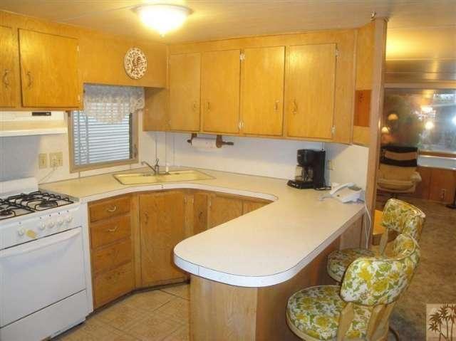 Sahara Mobile Home Park In Palm Springs Vintage Kitchen