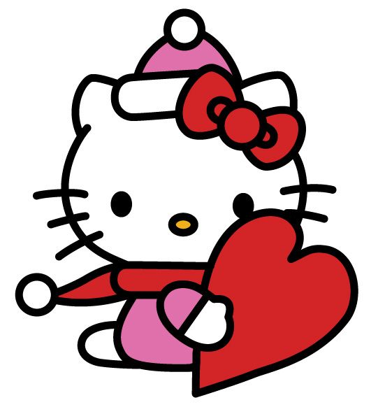 best free valentine s day clip art hello kitty vector clipart and rh pinterest com au hello kitty clipart free