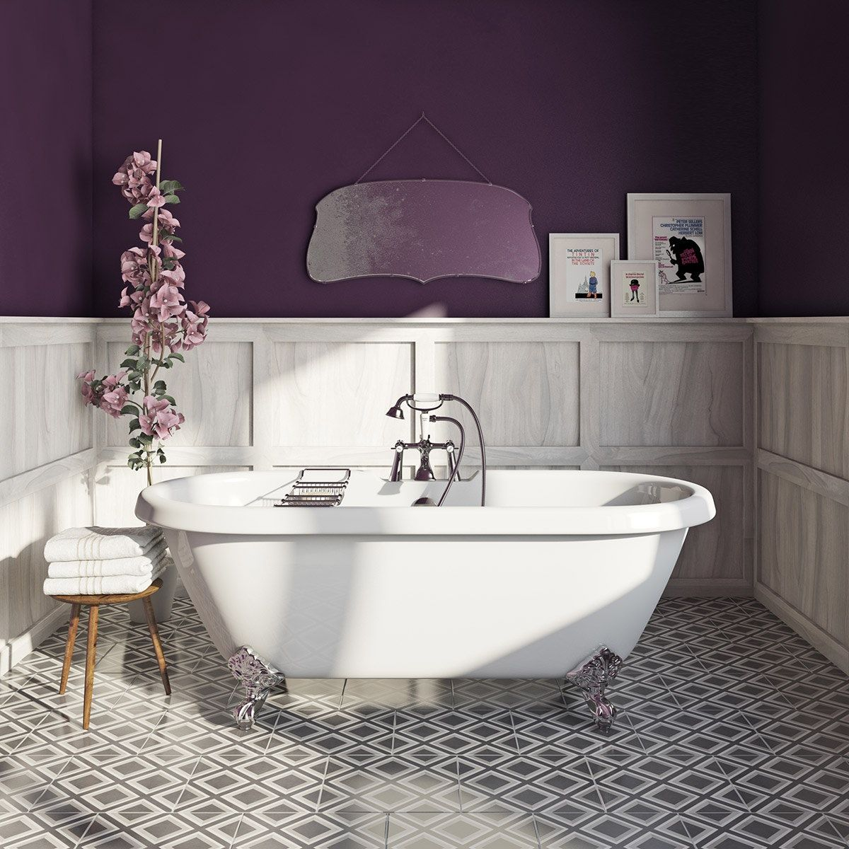 Craig Rose Sloe Gin Kitchen Bathroom Paint L Kitchens - Bathroom paint to prevent mold