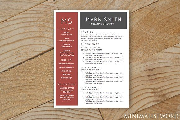 Red Black Resume Template - MS Word Resume, Red black and Templates - resume template ms word