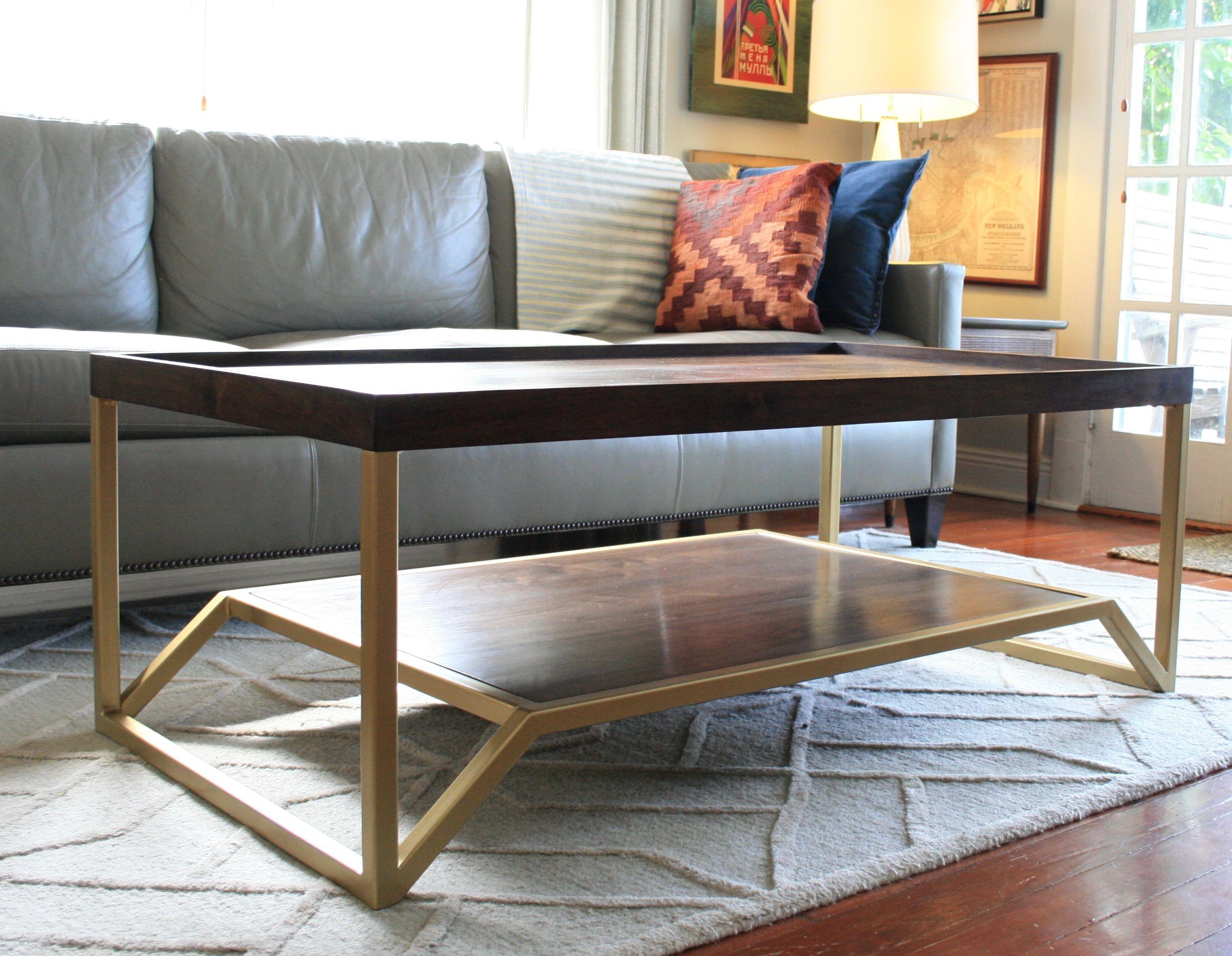 Free Shipping Onzaga Table Walnut And Brass Mid Century Etsy Mid Century Modern Coffee Table Coffee Table Living Room Coffee Table [ 2208 x 2845 Pixel ]