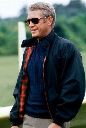 496bfe2c14b66 Steve McQueen en blouson Harrington et lunettes Persol dans l affaire  Thomas Crown  mode  icones  cinema  stevemcqueen  blouson  harrington   lunettes ...