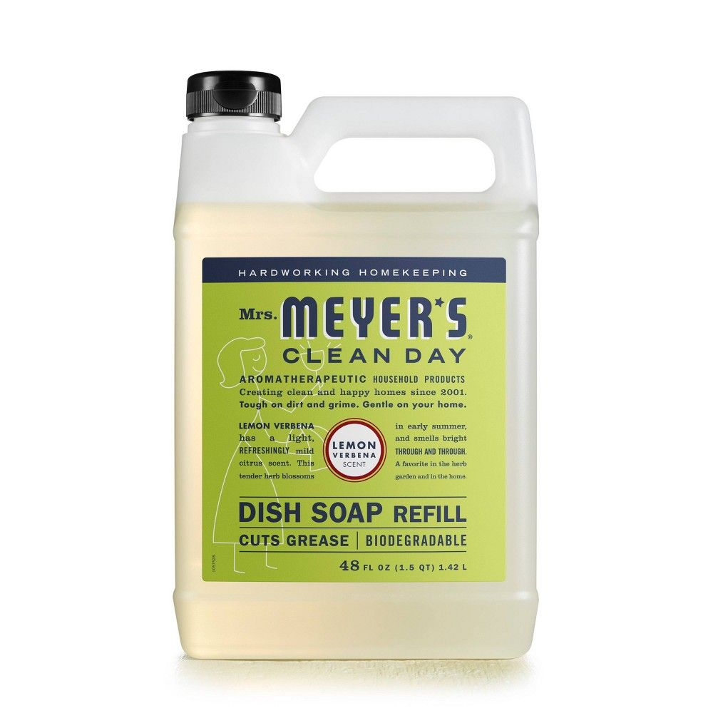 Mrs Meyer S Lemon Verbena Liquid Dish Refill 48 Fl Oz