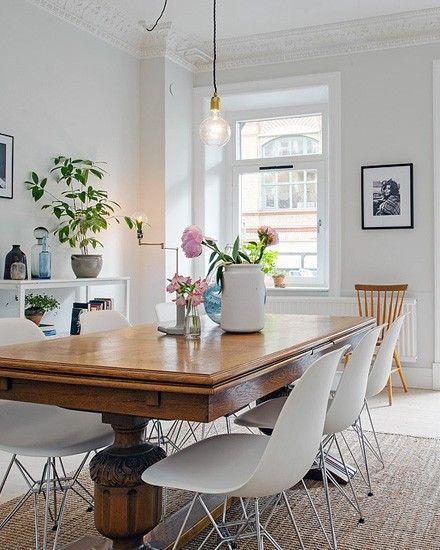 vintage dining table dining room floor