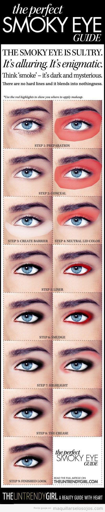 El mejor tutorial paso a paso para maquillar ojos ahumados que he