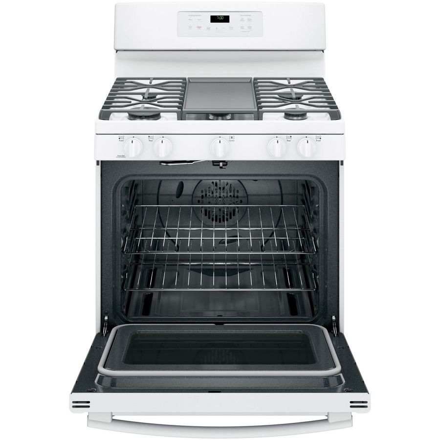 Shop ge burner freestanding cu ft selfcleaning with steam