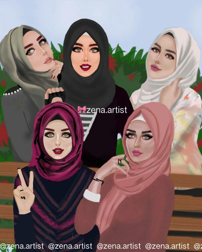 5li tesettürlü kız tayfası hijabi girl girl hijab hijab style bff