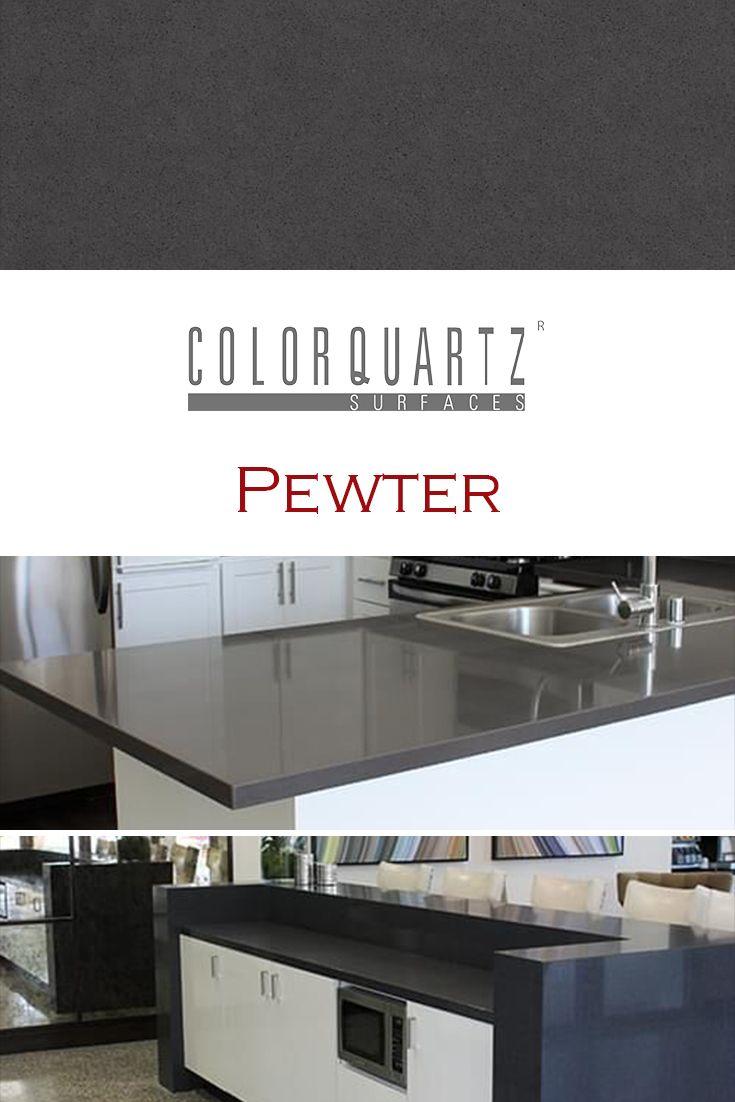 Pewter By Color Quartz Is Perfect For A Kitchen Quartz Countertop