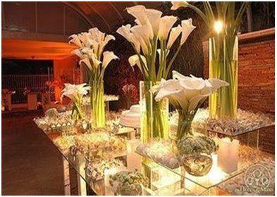 Decoracao De Casamento Com Copo De Leite Flower Centerpieces