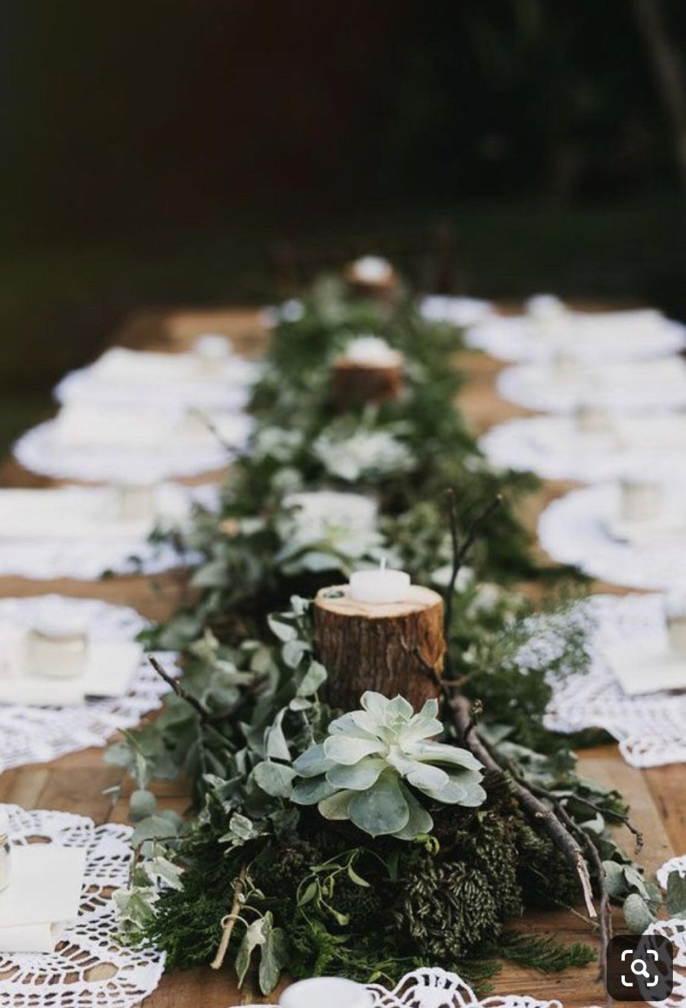 Custom Enchanted Woodland Table Decor Place Settings With Natural