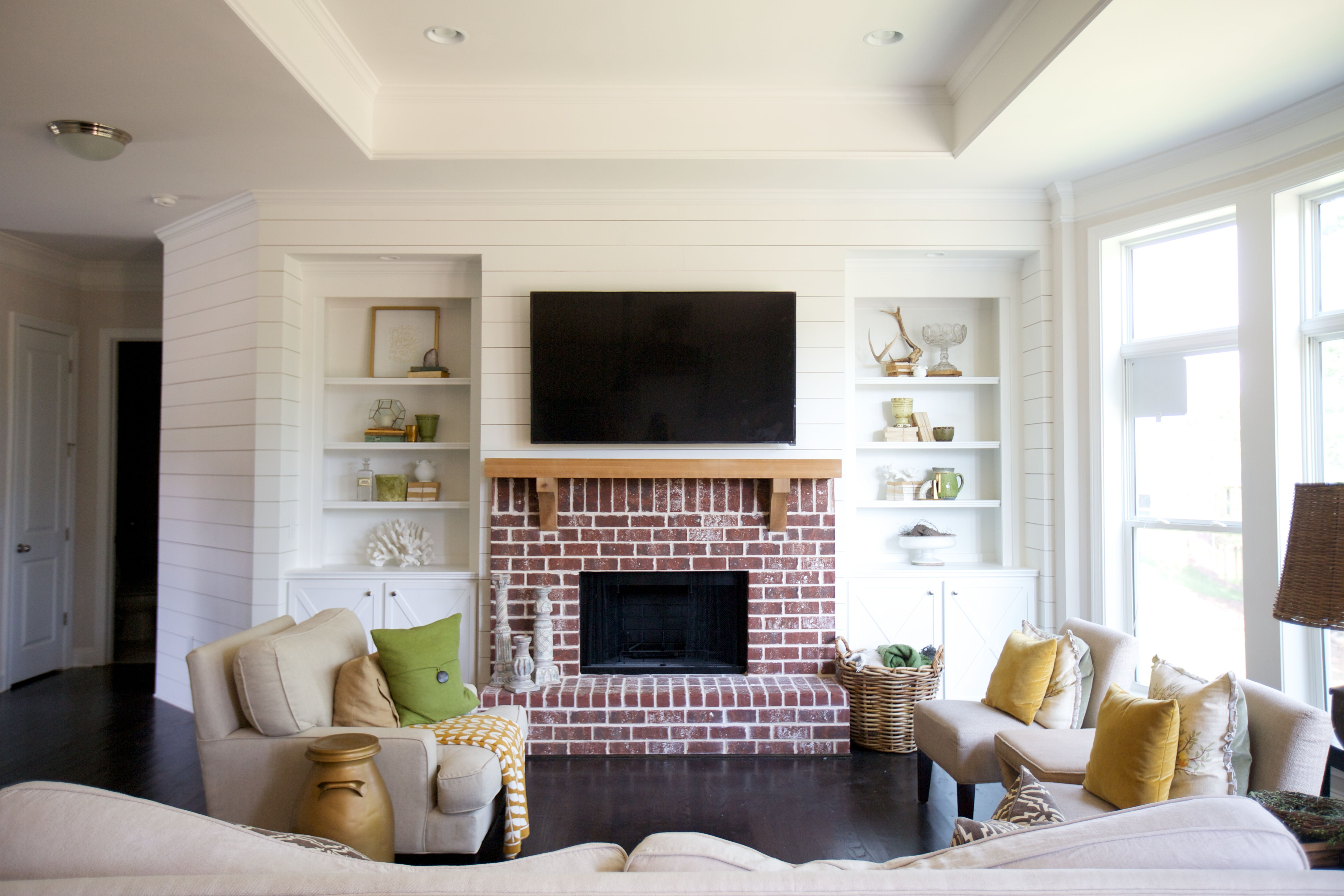 Superieur House + Home: Living Room Shiplap