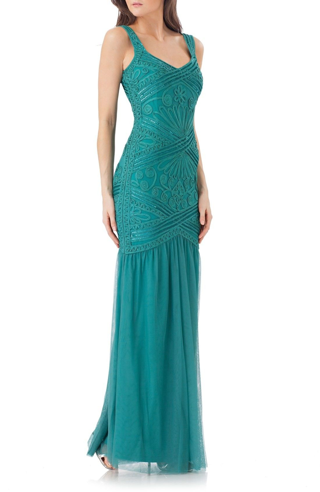 JS Collections Soutache Gown available at #Nordstrom | Wedding ...