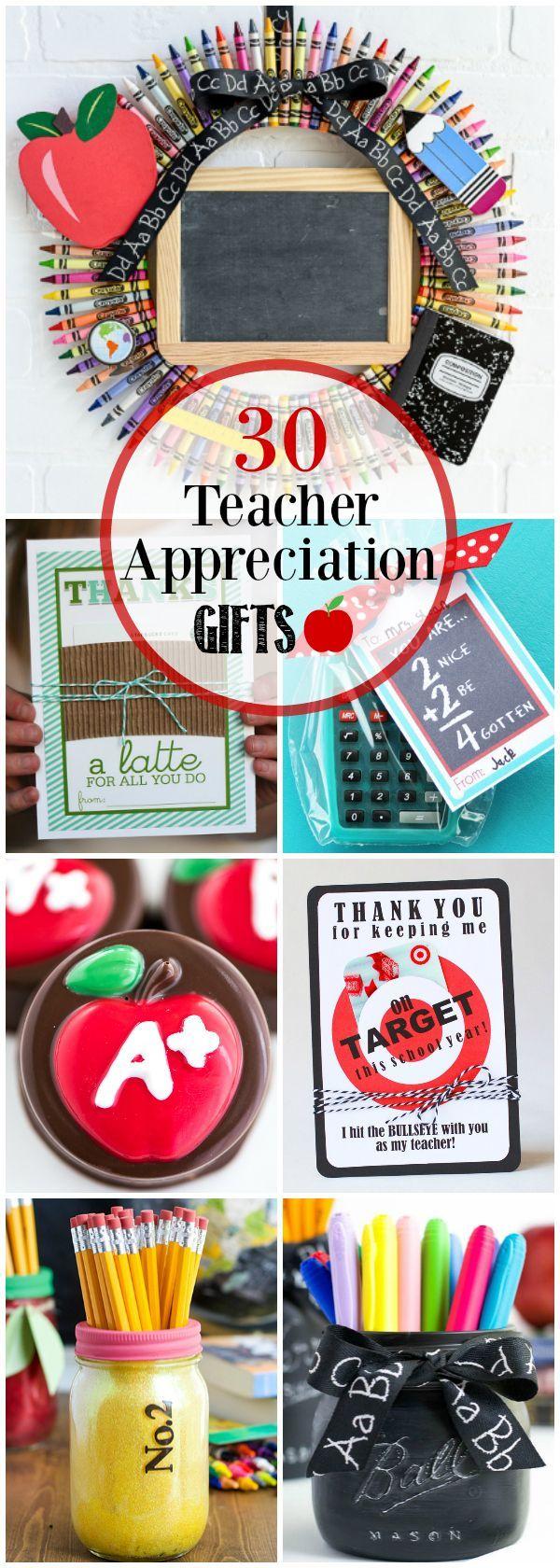 30 Teacher Appreciation Gifts Teacher appreciation gifts