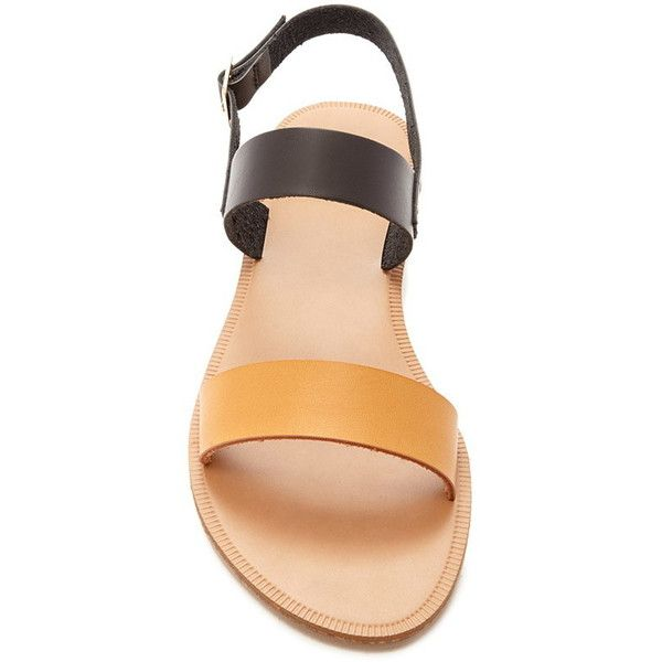 Forever 21 Women's Two Tone Faux Leather Sandals ($16