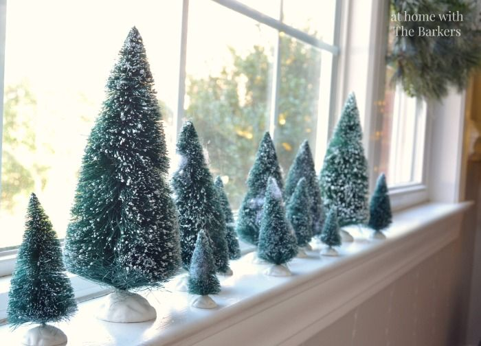 Christmas House Tour Christmas houses, Bottle brush trees and