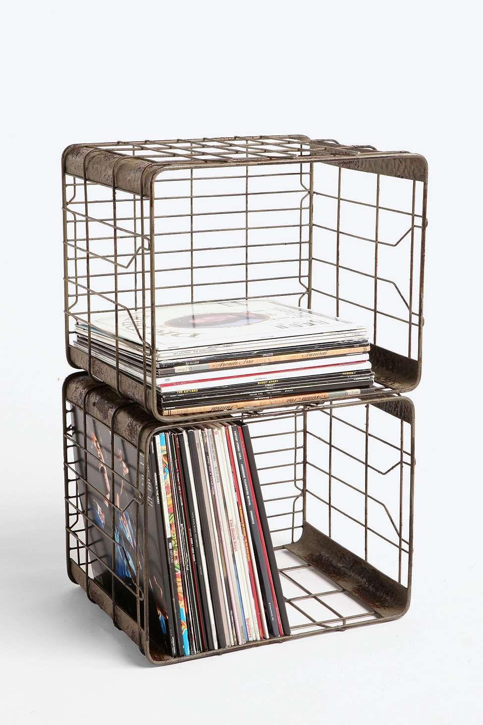 Wire Storage Basket | Aufbewahrungskörbe, Draht und Plattenspieler