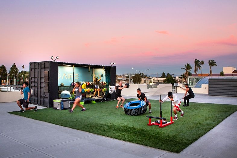 New Rooftop Gym In City Heights Backyard Gym Rooftop Gym City Heights