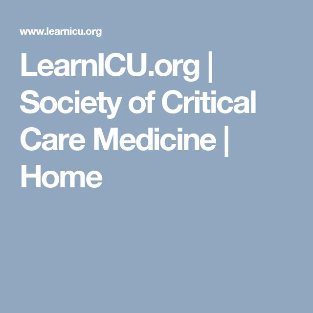 LearnICU org | Society of Critical Care Medicine | Home
