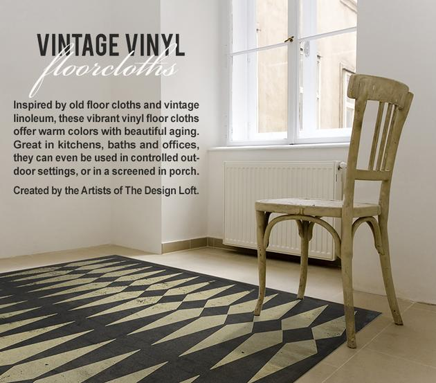 Amazing Vinyl Floor Cloth Vintage By Spicher Pattern 8 B E