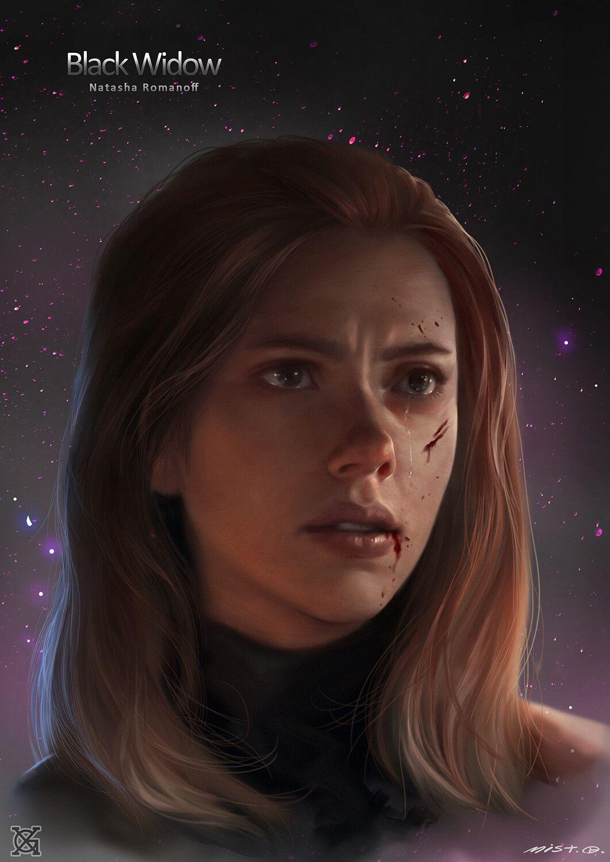Black widow, mist XG on ArtStation at https://www