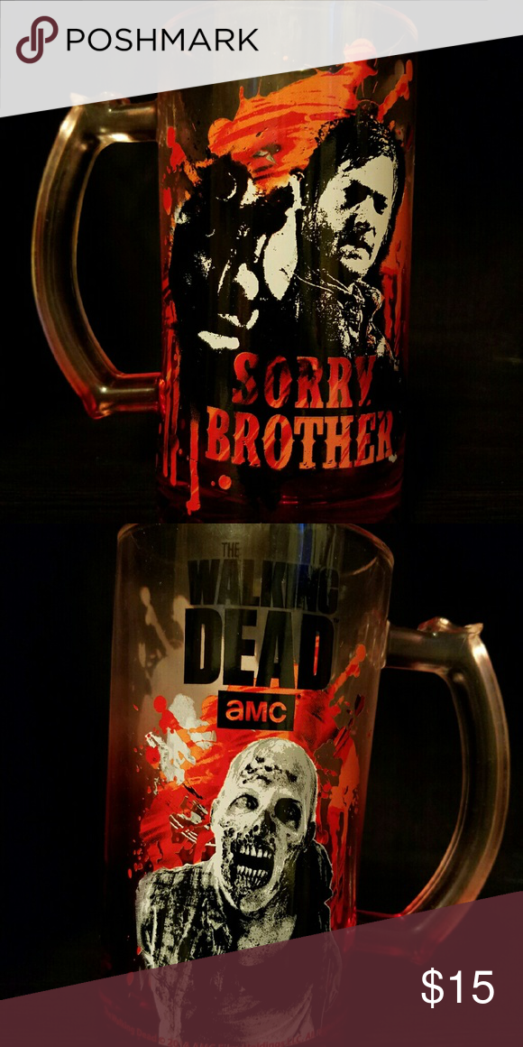 The Walking Dead Daryl Dixon glass mug Brand new, never used. I have two of them. Offers accepted using the Offer button. I will not negotiate prices in the comment section.  Thank you. Other