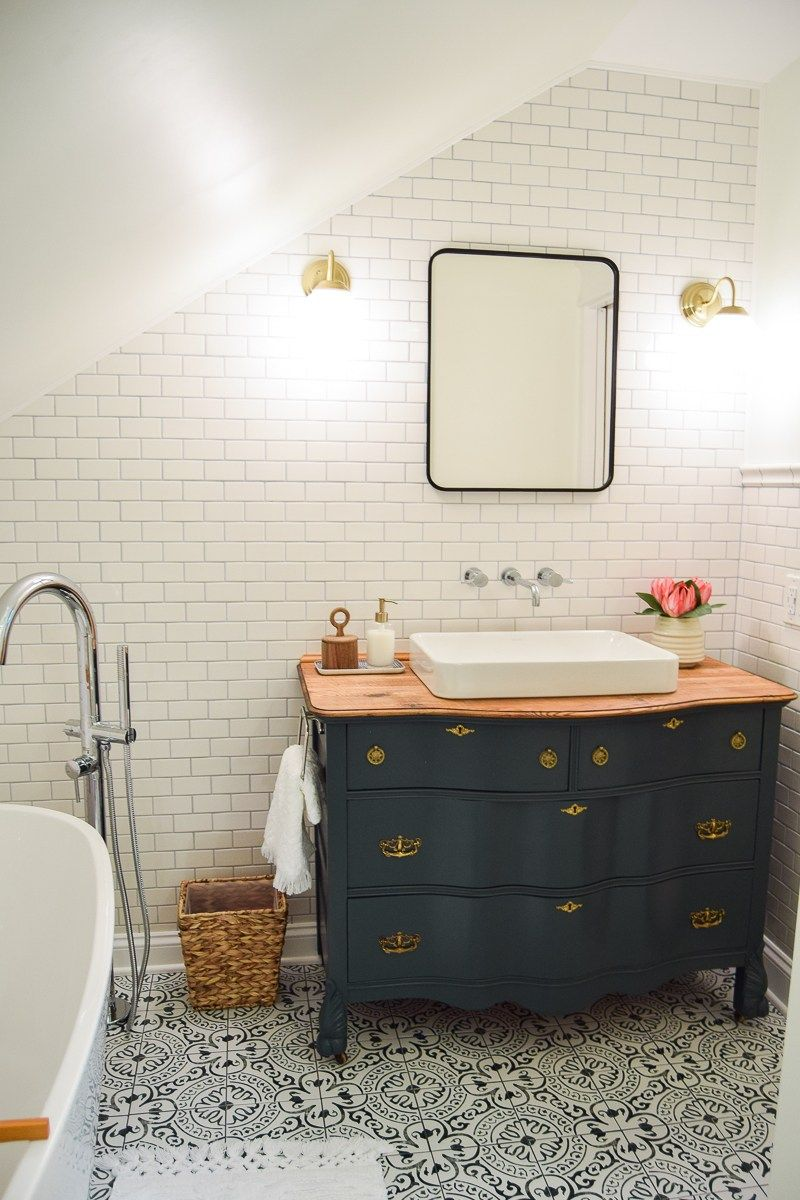 Our Modern and Vintage Master Bathroom Reveal - Making Joy and
