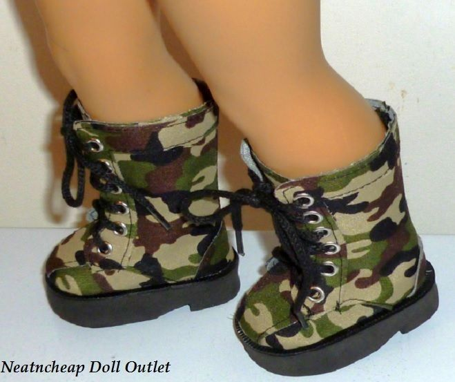 Military Fatigue Army Camo Lace Up Tall Boots Fits 18
