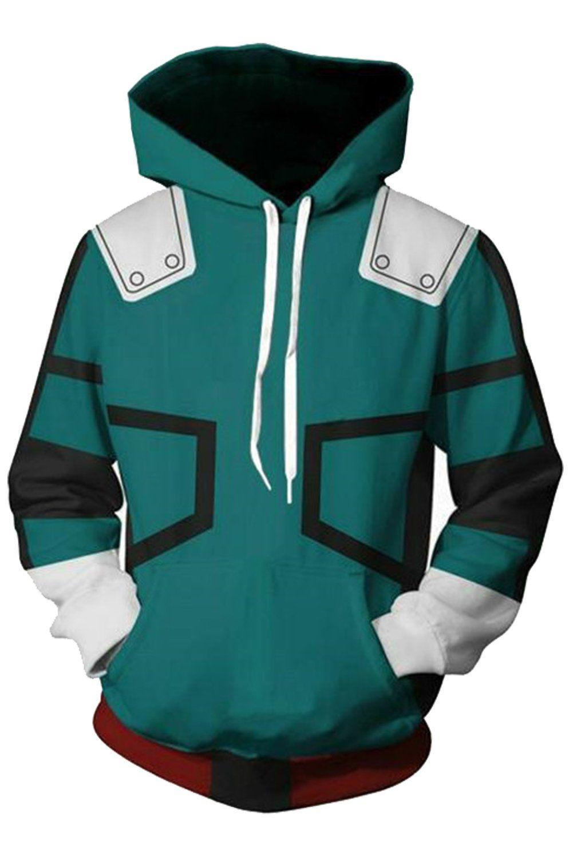 My Hero Academia Hoodie Boku No Hero Izuku Midoriya Deku Pullover Sweatshirt Unisex Hoodies Sweatshirts Hoodie My Hero Academia Merchandise [ 1500 x 1001 Pixel ]