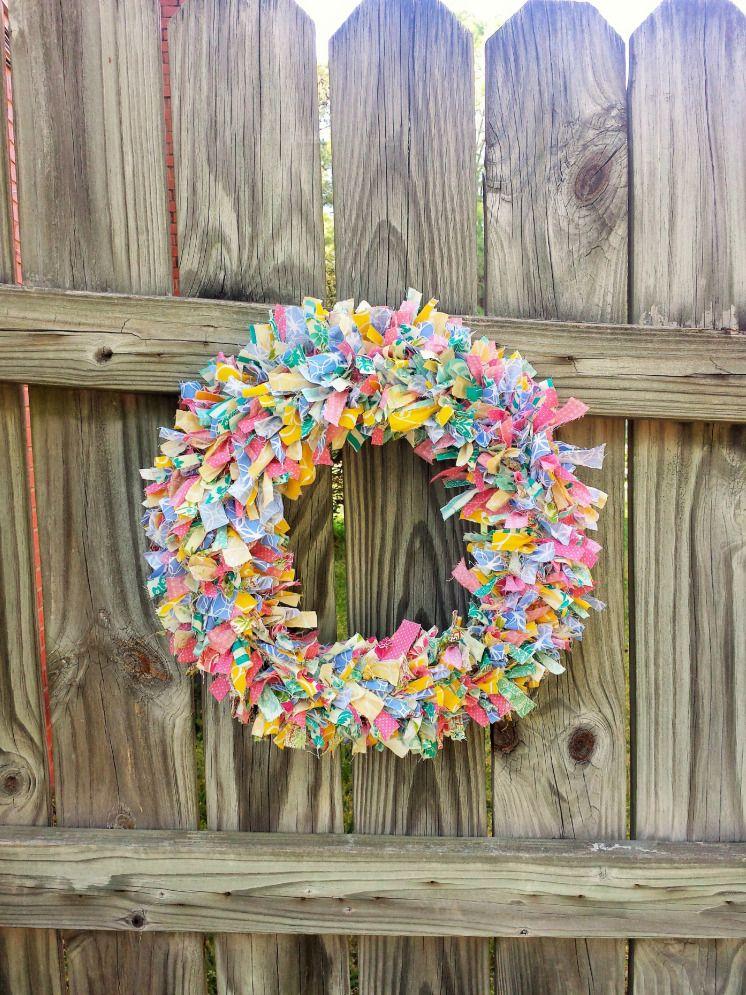 Photo of Fabric Strip Wreath