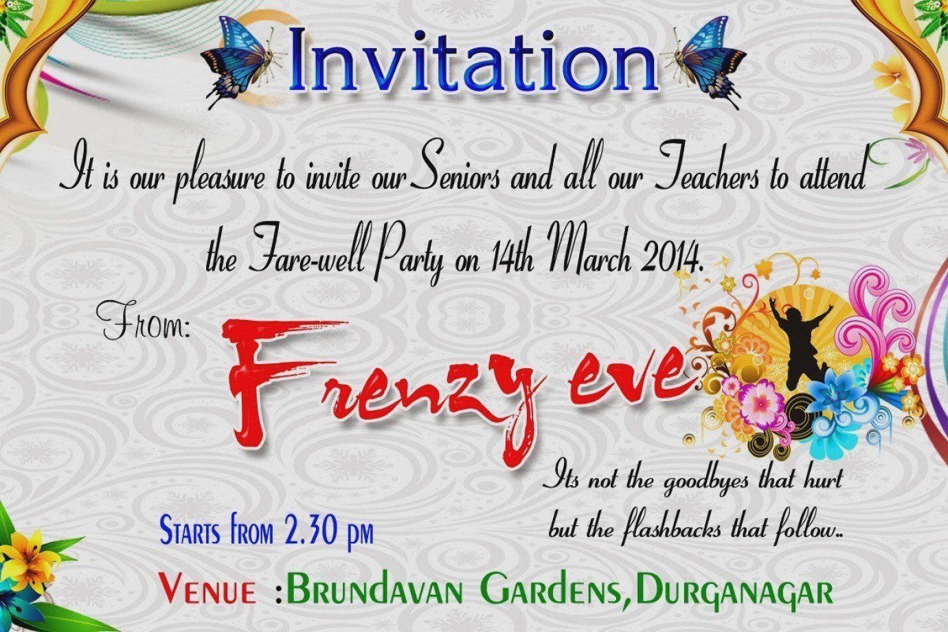 Printable Goodbye Cards Inspirational Farewell Invitation Templates Free Download Lette Farewell Party Invitations Farewell Invitation Card Party Invite Design