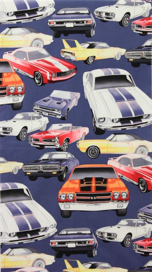 Baby Boy Room Cars: Fabric For Bedding And Curtains