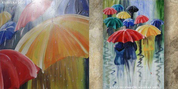 Tea-rose @etsyan04 6m6 minutes ago   http://etsy.me/1TxnIwk  ART rain umbrella PAINTING #sa7 #Iloves #IloveLS