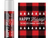 Custom Christmas Party Favors, Personalized Christmas Lip Balm Stickers & Lip Gloss Labels #stockingstuffersforadults