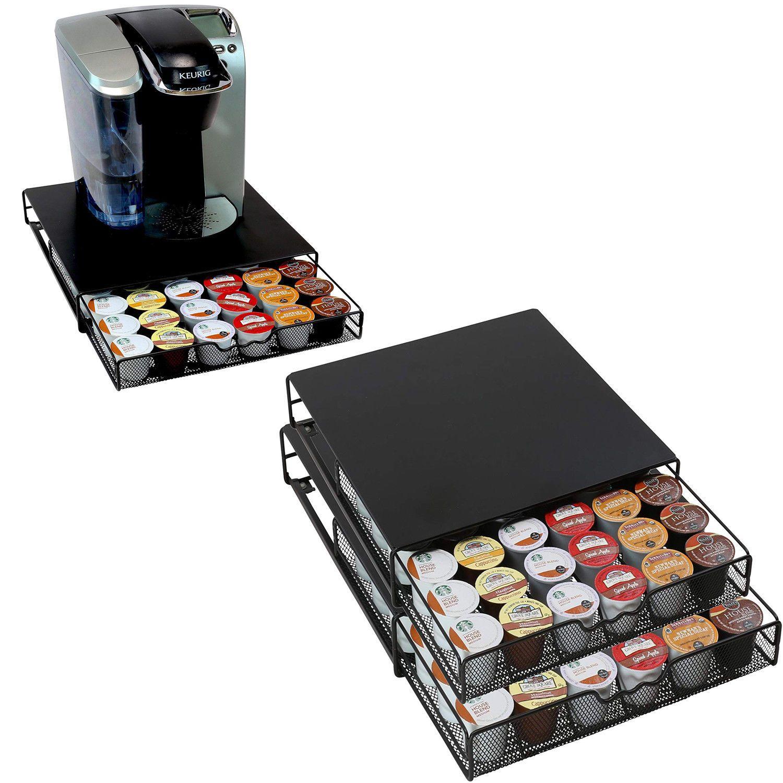 36 k cup pods holder keurig pod sliding drawer coffee