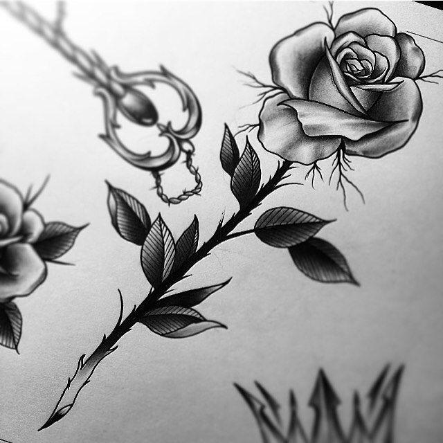 ⚡️⚡️ #edwardmiller #tattoo #tattooartist #flash #rose blackshadowsclth.com