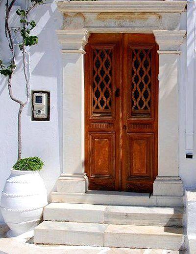 Traditional door.. Tinos Island, Greece