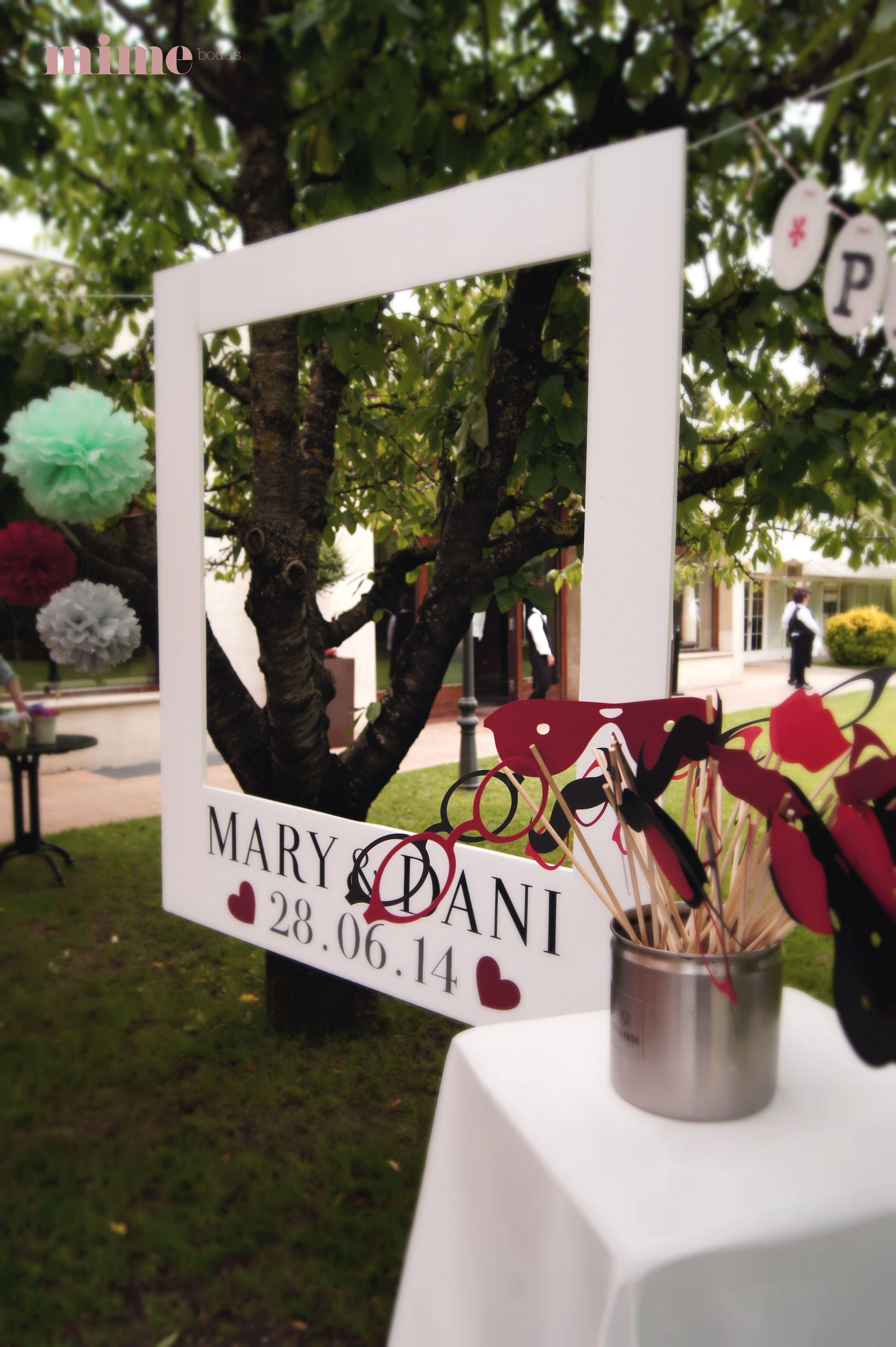El photocall en la boda de María y Dani ... por MIMEbodas - mime ...
