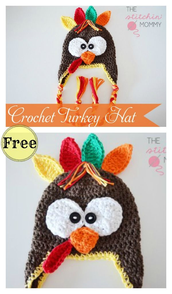 Turkey Hat Free Crochet Patterns   Holiday Crochet   Pinterest ...