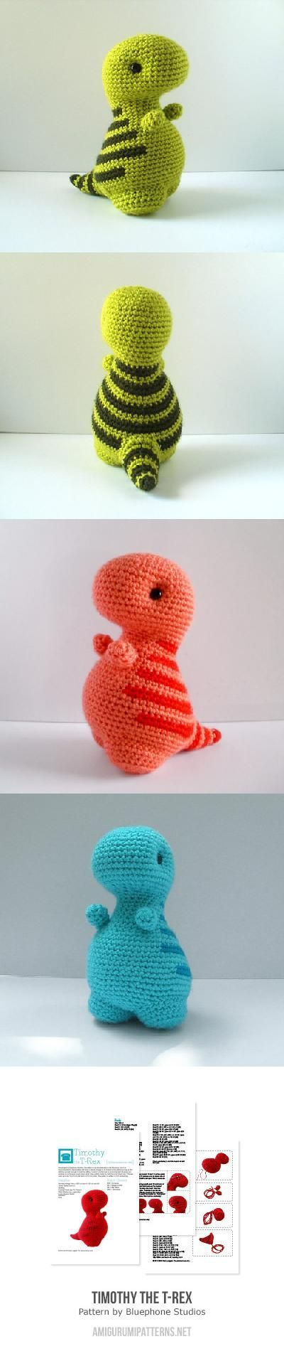 timothy the t-rex amigurumi pattern