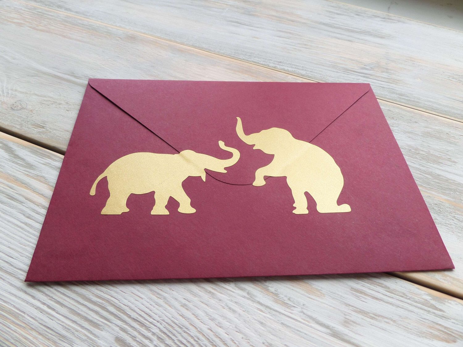 36 metallic gold elephant stickers engagement party