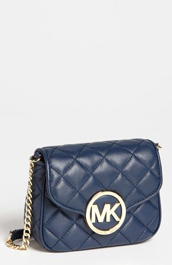5a3d12183e44d MICHAEL Michael Kors  Fulton - Small  Quilted Leather Crossbody Bag ...