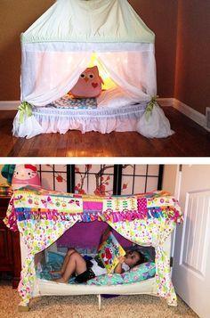 dc9ae4ca0 Ideas originales para reutilizar el corral del bebé | dariana | Ropa ...